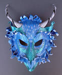 Teal Frost Dragon Mask