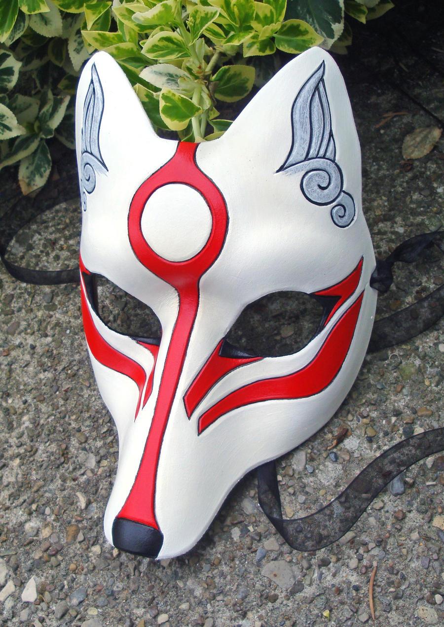 Amaterasu Kitsune Mask 2 by merimask