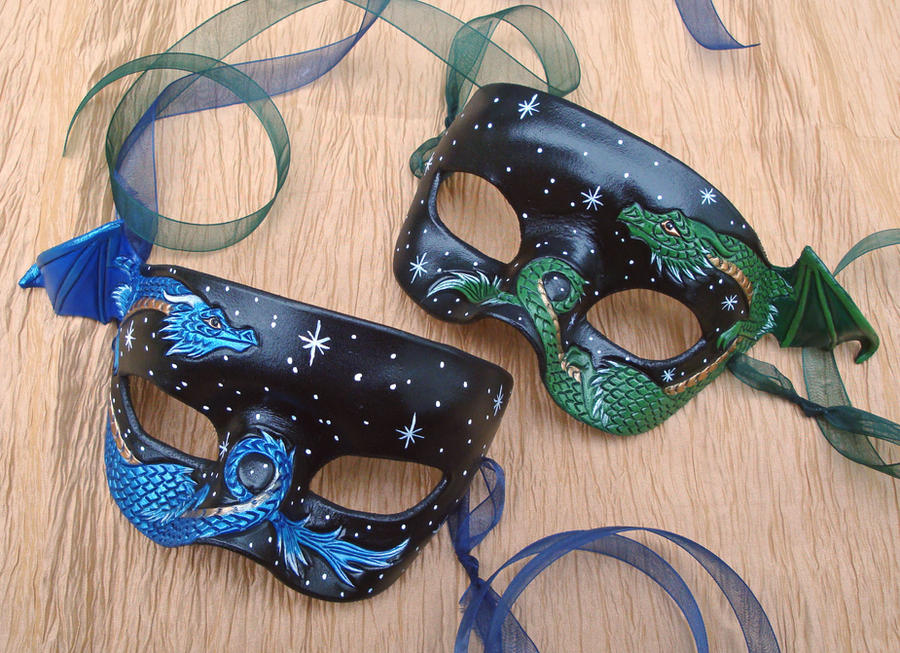 Dragon Mask Pair by merimask