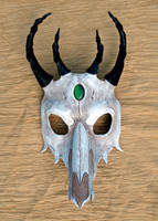 Dragon Skull Leather Mask 1 by merimask