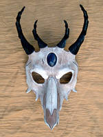 Dragon Skull Leather Mask 2 by merimask