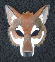 Red Wolf Mask by merimask