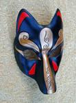 Black And Bronze Kitsune Mask