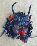 Red Serpentine Dragon Mask