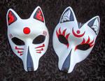 Two Custom Kitsune Masks