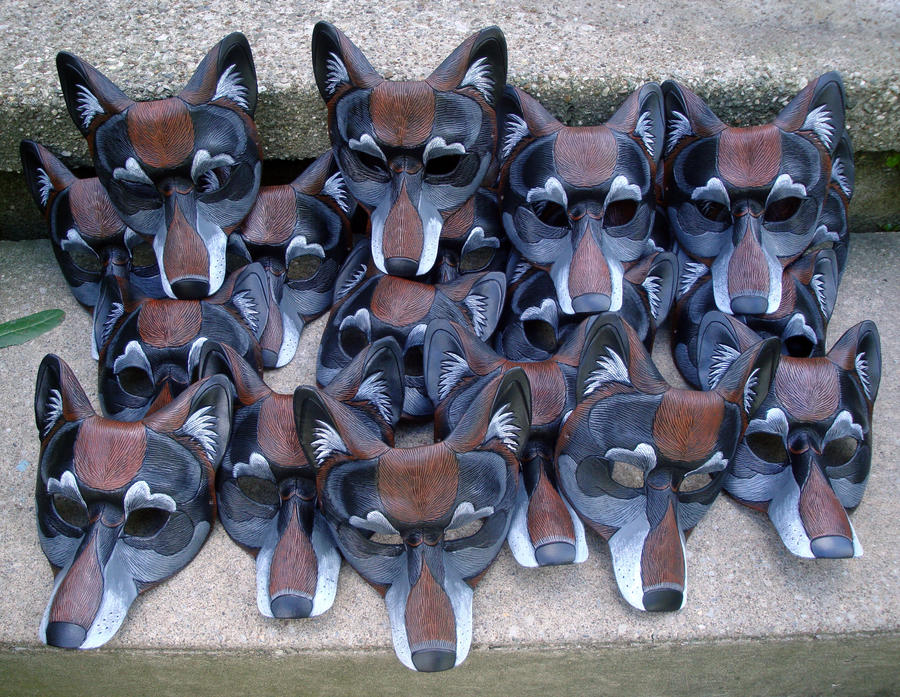 Twenty Wolf Masks by merimask
