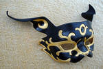 Black and Gold Rabbit Mask