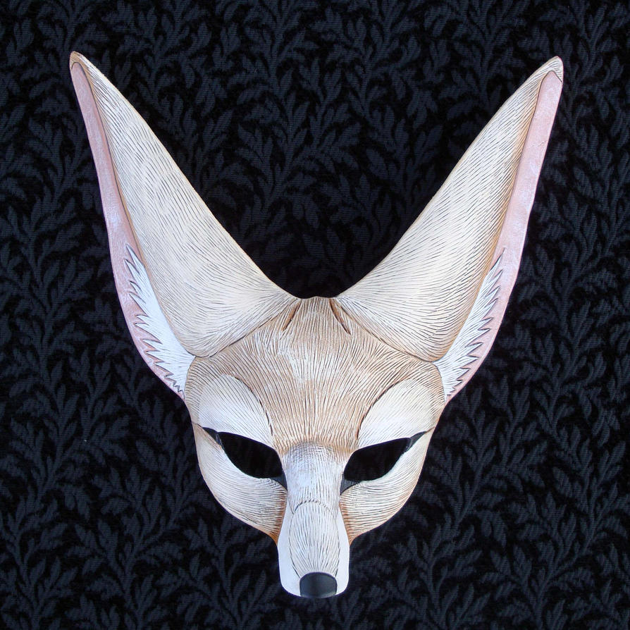 Pale Fennec Fox Mask by merimask on DeviantArt