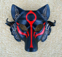 Black Okami Leather Mask by merimask