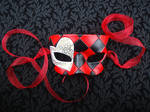 White Knave of Hearts Mask