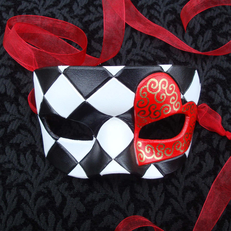 Red Knave Of Hearts by merimask