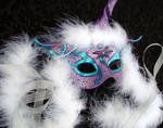 Custom Purple Unicorn Mask