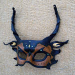 Brown and Green Dragon Mask