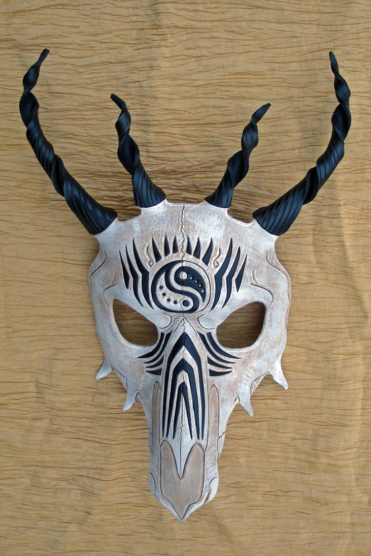 Tribal Dragon Skull Mask no. 1 by merimask