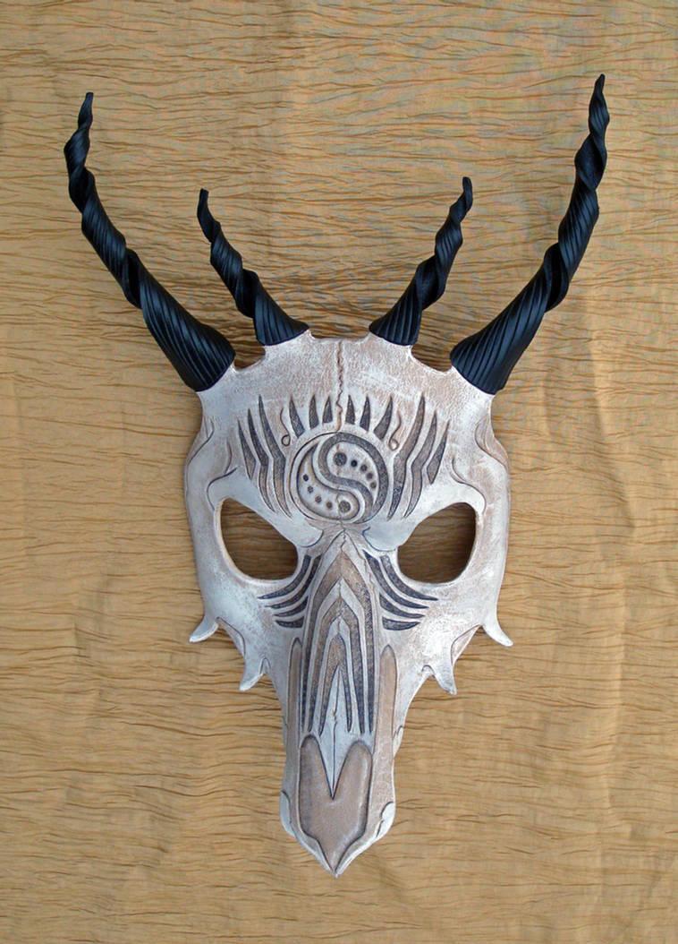 Tribal Dragon Skull Mask no. 2 by merimask