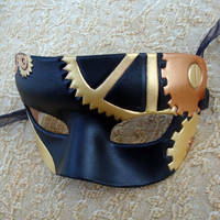 Small Leather Brass Steampunk by merimask