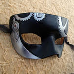Small Leather SteamPunk Silver
