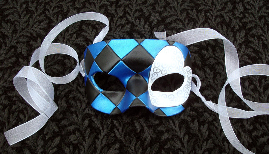 Blue Knave Of Hearts Mask by merimask