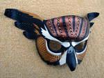 Fantasy Owl Leather Mask