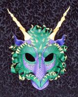 Mardi Gras Dragon Mask by merimask