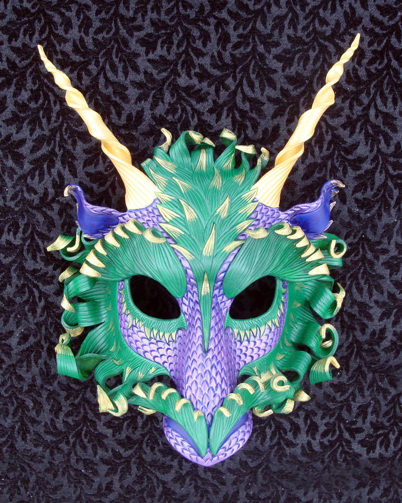 Mardi Gras Dragon Mask by merimask