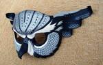 Silver Fantasy Owl Mask