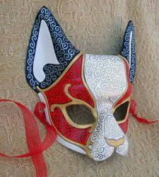 Red Venetian Cat Mask