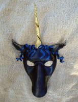 Black Unicorn Mask by merimask