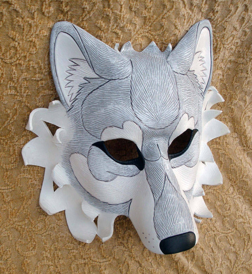 White Dire Wolf Mask by merimask
