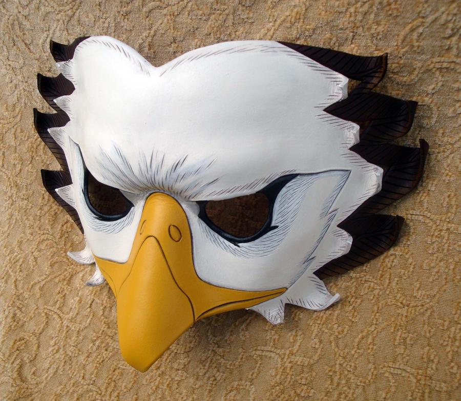 Bald Eagle Leather Mask by merimask