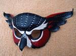 Red Fantasy Owl Mask
