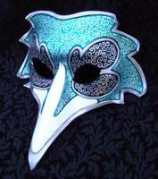 Jade Venetian Raven Mask by merimask