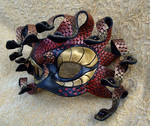 Red Gold Medusa Mask