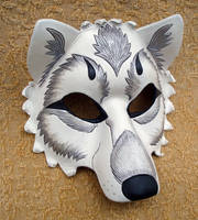 White and Silver Wolf by merimask