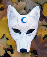 White Wolf Blue Moon Mask by merimask