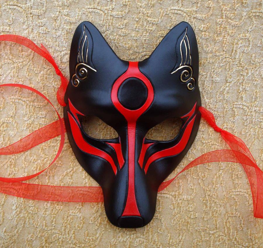 Black Okami Kitsune by merimask