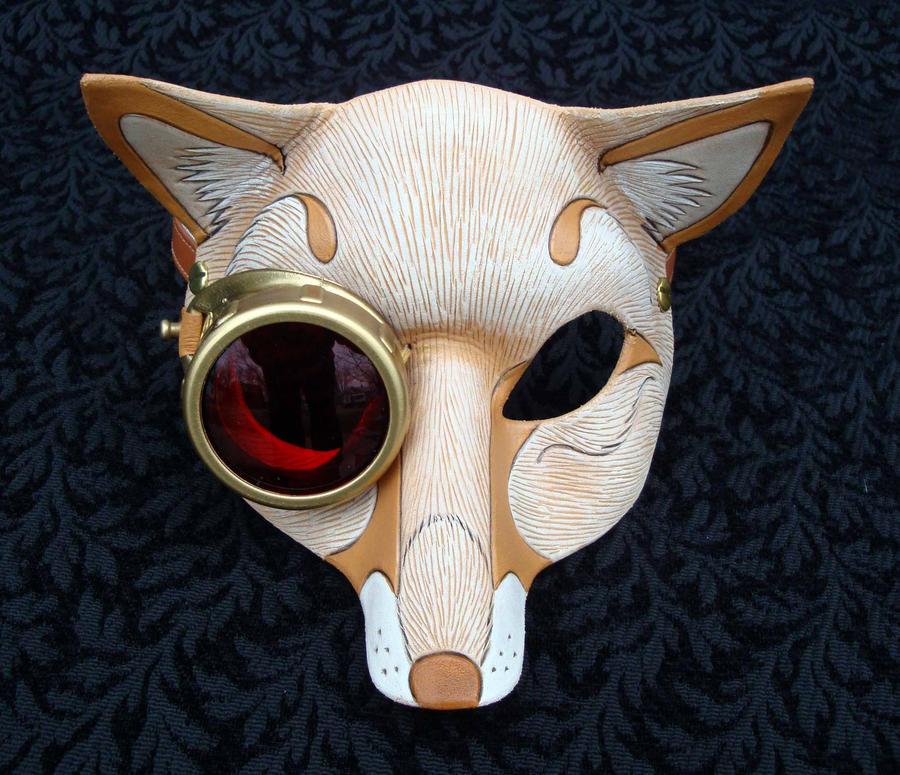cogmonocle blond fox mask by merimask on deviantart. Black Bedroom Furniture Sets. Home Design Ideas