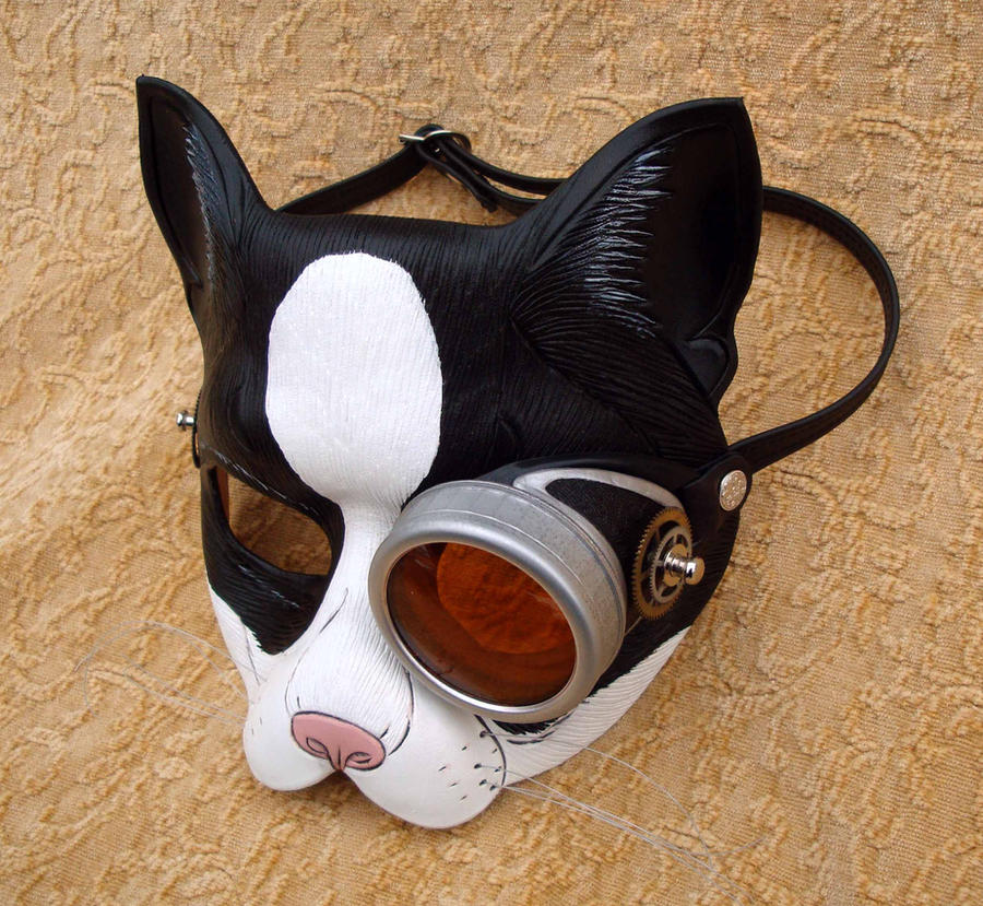 Peeping Tom Monocle Cat Mask by merimask