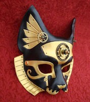 Industrial Bast Egyptian Cat Queen by merimask