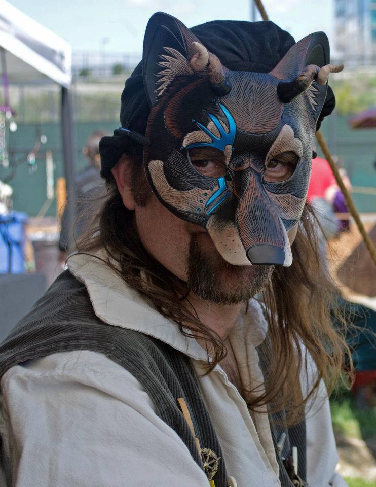 Demon wolf being worn by merimask