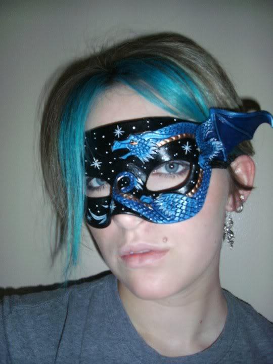 Dragon half-mask being worn by merimask