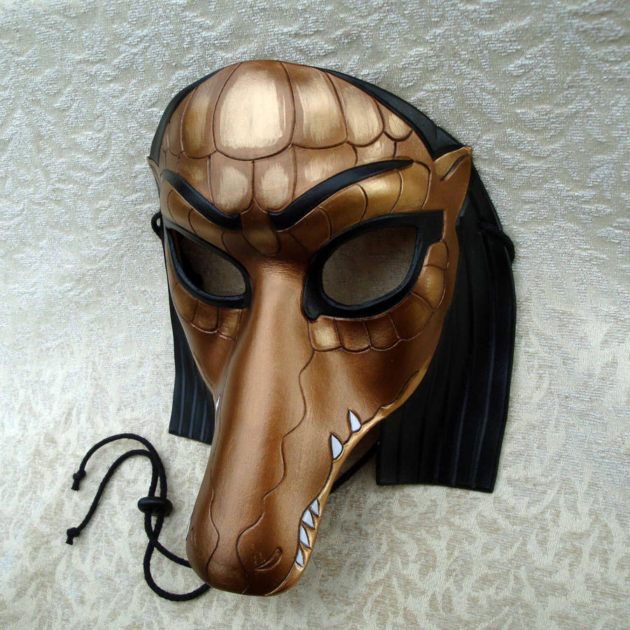 Sobek Crocodile Mask by merimask