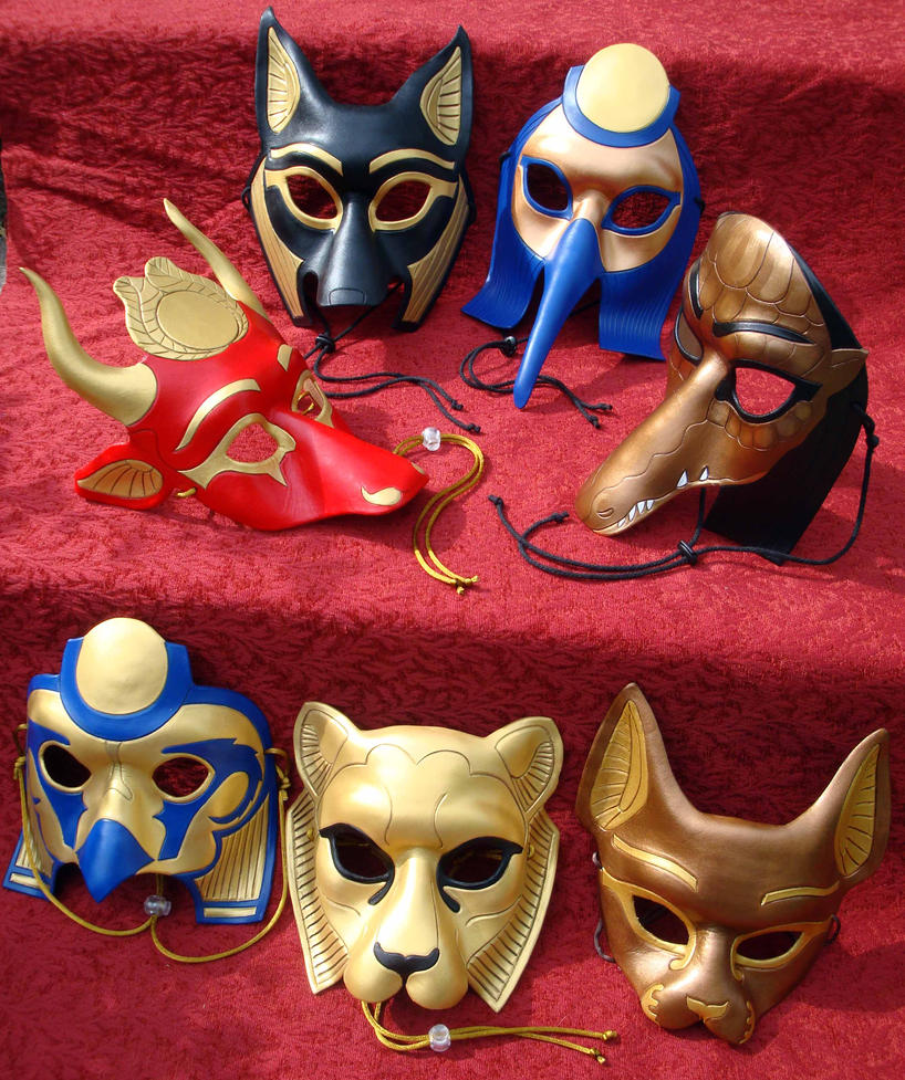 Egyptian Pantheon Mask Group by merimask