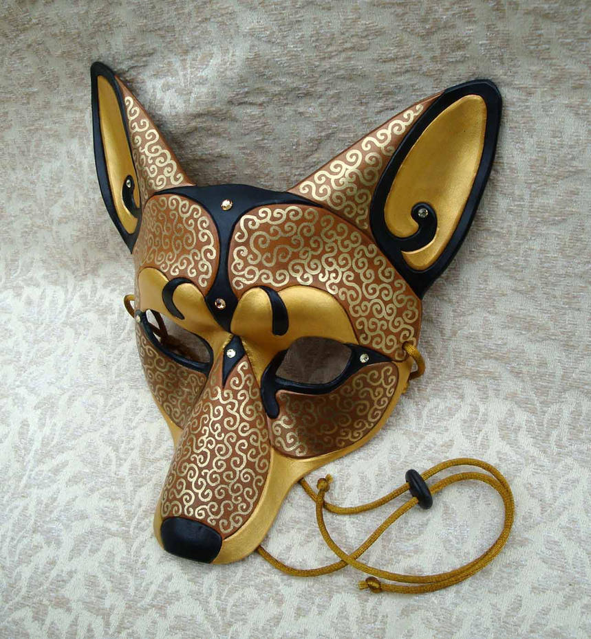 Venetian Coyote Mask by merimask