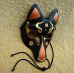 Fancy Black Kitsune Mask