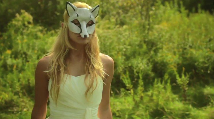 White Fox Mask...another frame from the movie by merimask