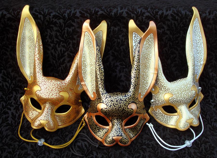 Venetian Rabbit Masks by merimask
