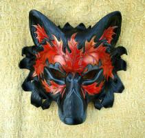 Autumn Leaf Wolf V1 by merimask