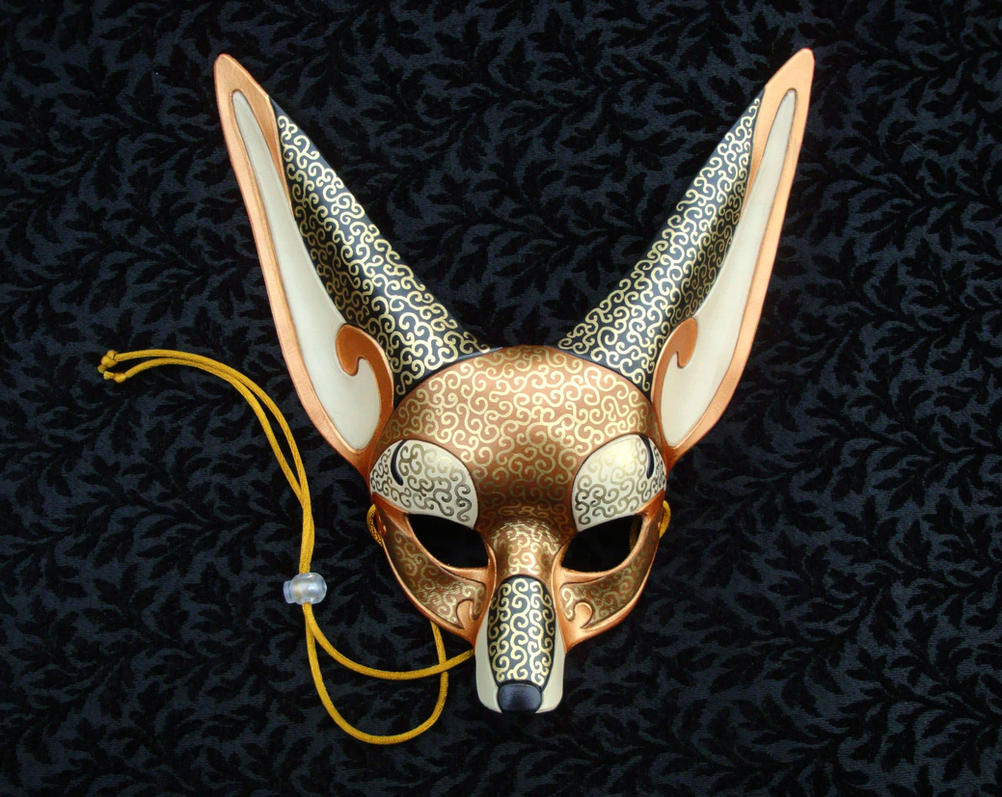 Venetian Fennec Fox Mask V2 by merimask