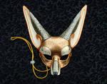 Venetian Fennec Fox Mask V2
